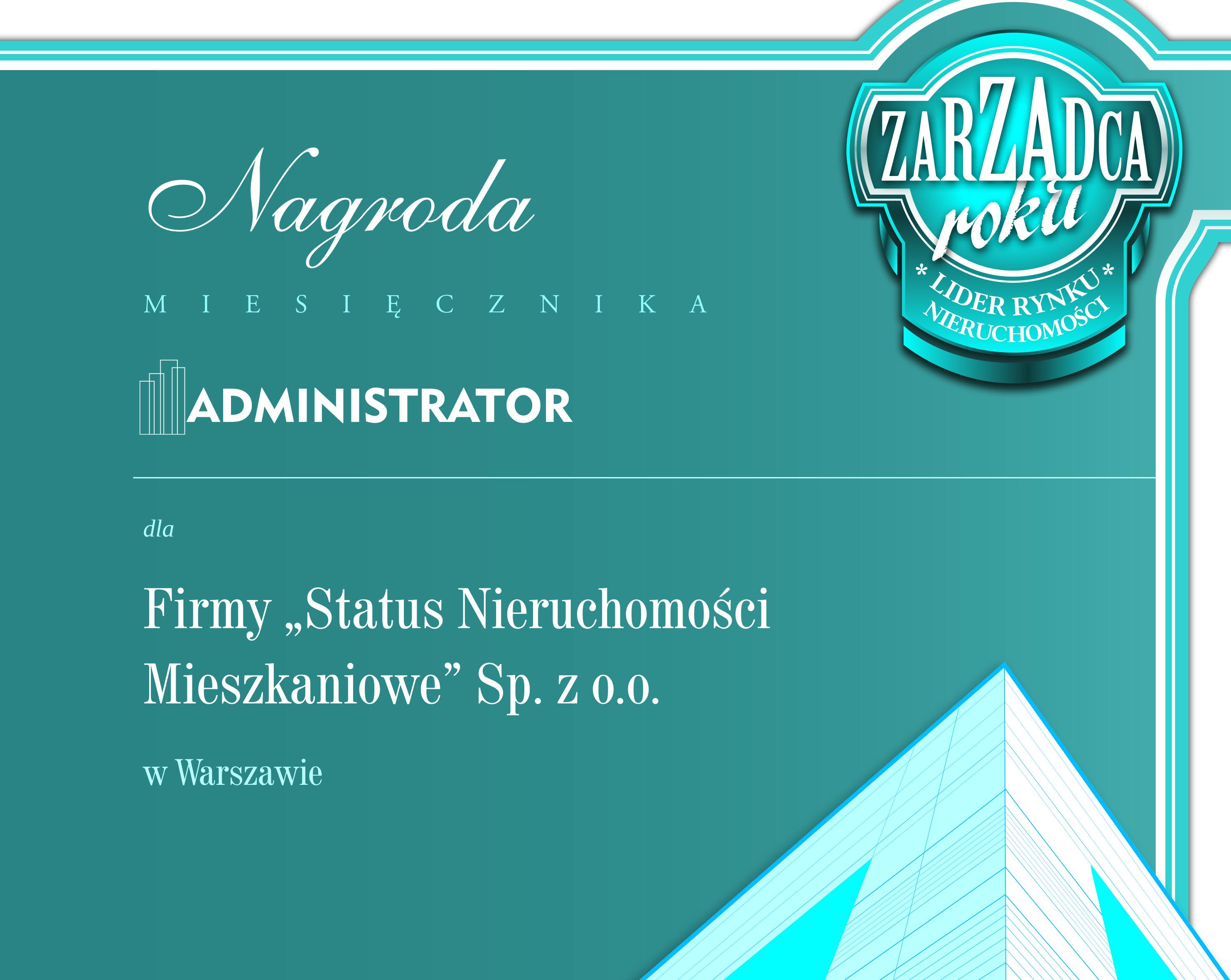 Nagroda miesięcznika Administrator24